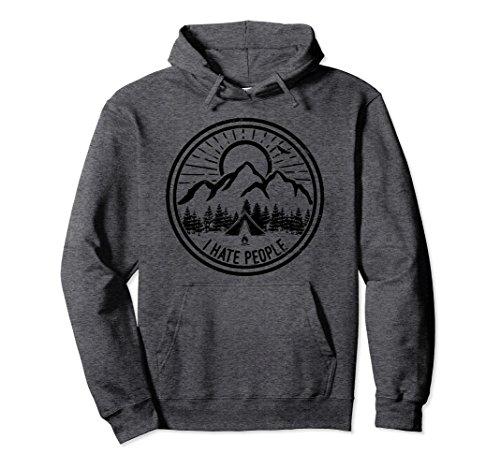 Unisex Camping I Hate People Shirt Funny Camping Lovers Hoodie 2XL Dark - Hate I People Hoodie