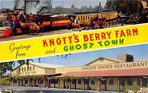 Ghost Town & Calico Railraod Knott's Berry Farm, Ghost Town, California, CA, USA Postcard Post Card