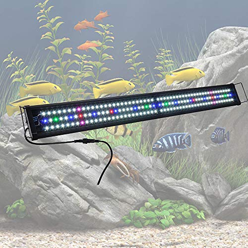 Yescom Multi-Color 156 LED Aquarium Light Full Spectrum Lamp Extendable Brackets for 45-50 Fish Tank Freshwater