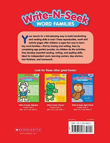 Word Families: Motivating Practice Pages to Help Kids Master Word Families (Write-N-Seek:)