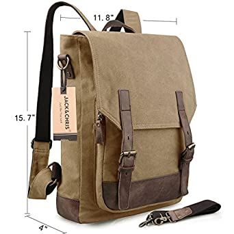 Amazon.com: Jack&Chris Backpack Purse Real Leather Backpack ...