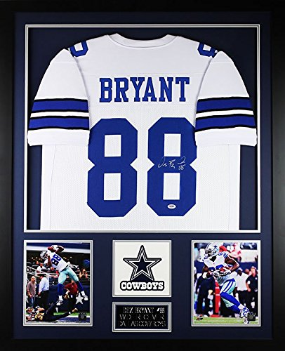 096940b8e11 ... where to buy dez bryant autographed white cowboys jersey beautifully  matted and framed hand signed by