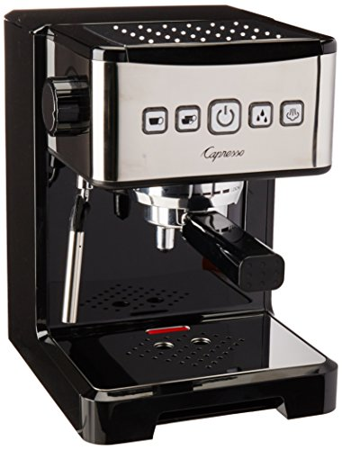 Capresso 124.01 Ultima Pro Espresso Machine Coffeemaker, Black/Stainless