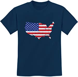 USA American Flag 4th of July Patriotic Youth Kids T-Shirt