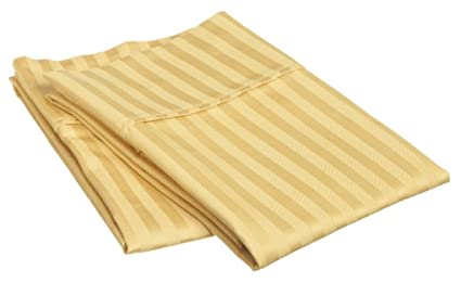 KING GOLD STRIPE COMINHKR023990 Marrikas 300TC Egyptian Cotton Quality PillowCase Pair 2
