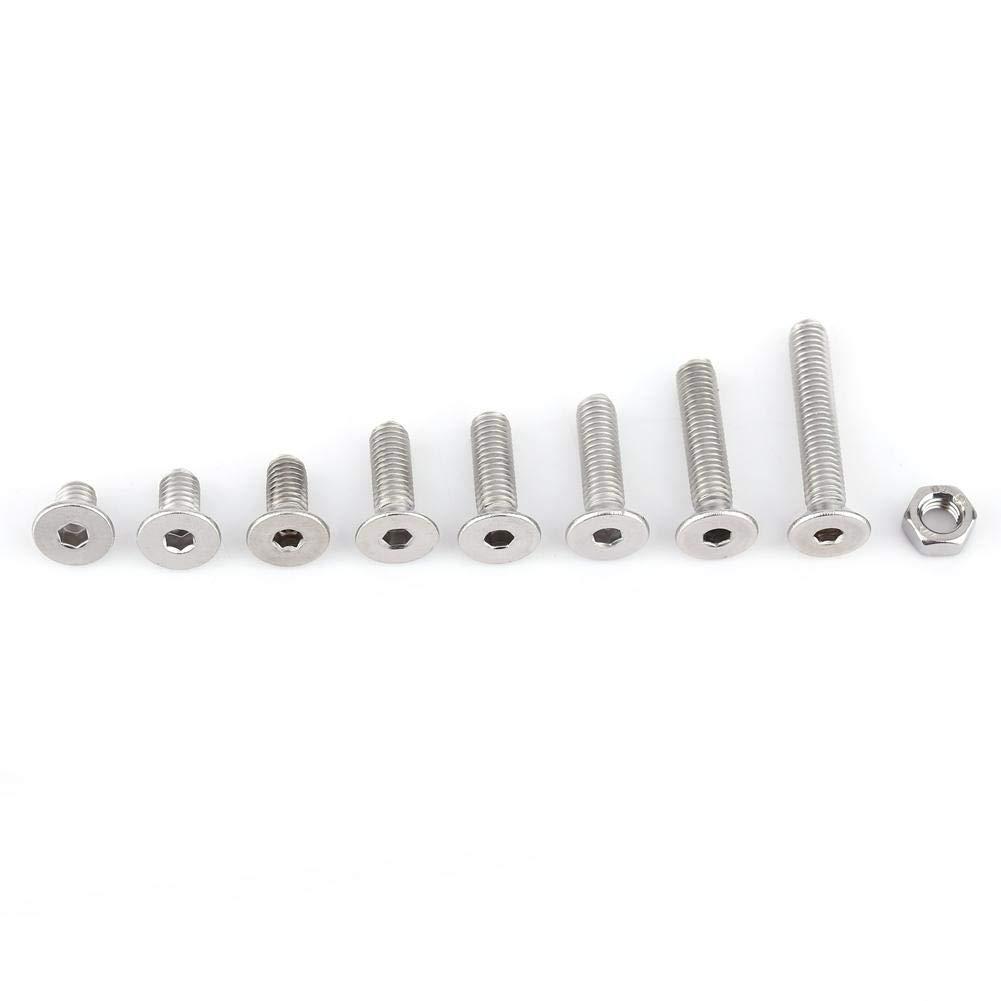 Paket 160-teilig Edelstahl Edelstahl SS304/Sechskant Sockel Schrauben M5/Schrauben und Muttern Sortiment-Kit