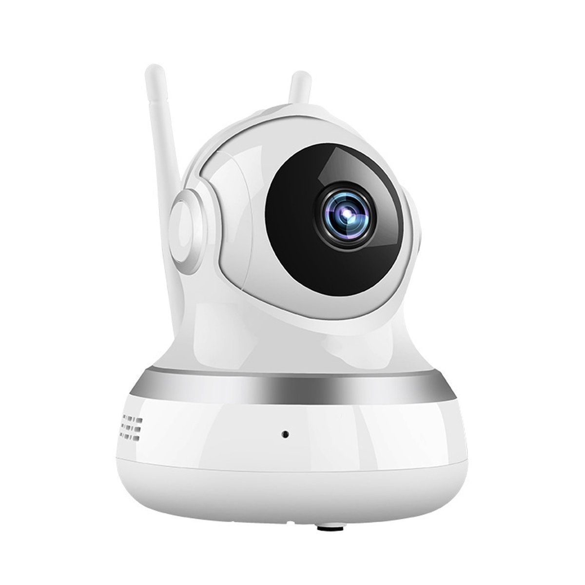 WiFi Camera - Wireless IP Camera with Two-Way Audio, Night Vision Camera, 2.4GHz & 720P Camera for Pet Baby Monitor, Home Security Camera Motion Detection Indoor Camera (White) by BOOCOSA