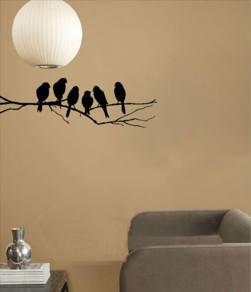 Buy decals design sparrows branch wall sticker pvc vinyl 45 cm x buy decals design sparrows branch wall sticker pvc vinyl 45 cm x 60 cm black online at low prices in india amazon thecheapjerseys Gallery