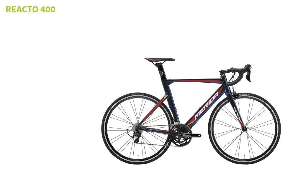 2018 MERIDA(メリダ) REACTO 400 ダークブルー/サイズ50cm ペダルサービス ロードバイク B078Z642LH