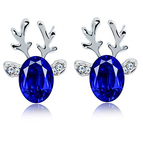 luck-wang-womens-unique-fashion-crystal-christmas-reindeer-antlers-gemstone-earrings1c