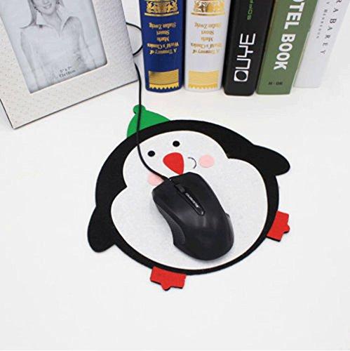 MONOMONO-Christmas Cartoon Computer Mouse Pad Mat Xmas Decorations Ornament Gift New - Spring Mall Field