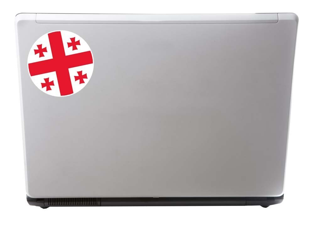 2/x Drapeau G/éorgie Sticker en vinyle pour ordinateur portable Voyage Bagage Voiture Panneau iPad Fun # 9079-10cm//100mm Wide