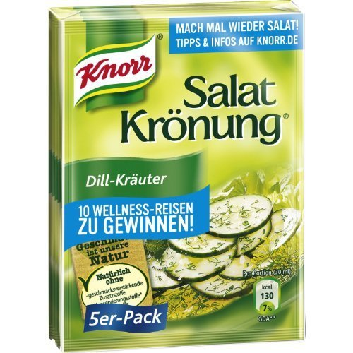 Knorr Salat Kronung (Salad Herbs and Dill), Pack of 5 by Knorr