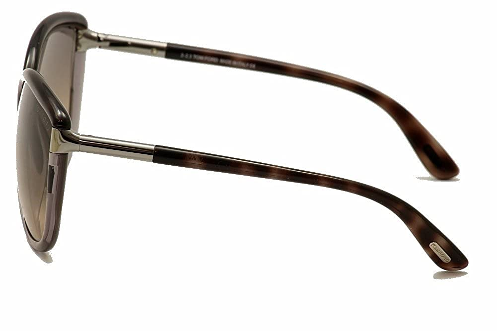 6f269d7db43de Amazon.com  Tom Ford Sunglasses TF 327 Abbey Sunglasses 56B Transparent  brown and transparent grey 63mm  Clothing
