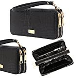CrossLandy Women's Double Zip Around Large Capacity Clutch Organizer Wallet with Wristlet Reviews (Free Shipping Available)