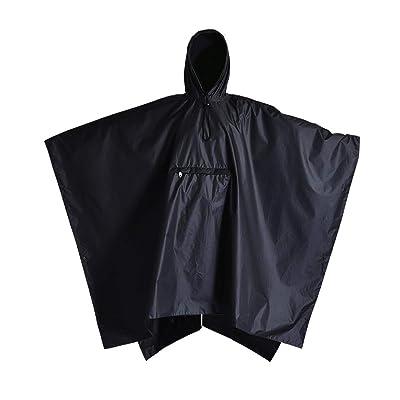 Rain Ponchos for Women - Black Rain Poncho - Waterproof Rain Gear for Women - Lightweight Travel Poncho: Clothing