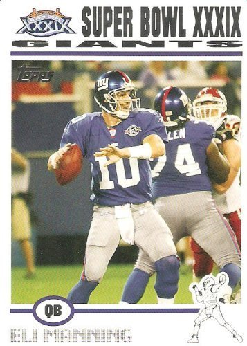 2004 (2005) Topps Super Bowl XXXIX Card Show Promo #3 Eli Manning (RC) New York Giants - Rookie Football Card (Serial #d to 1000) - Super Bowl QB MVP