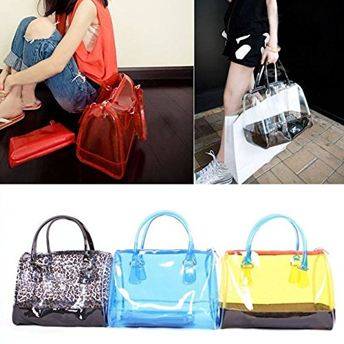 Transparent Hfjingjing Sweet 1 Jelly Woman With Handbag Pvc In Bucket 2 nnXzWaU