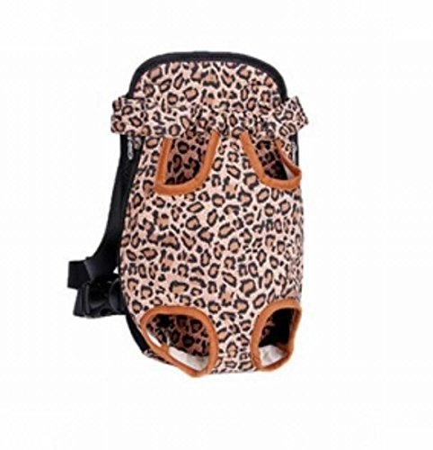 Gracefur Pet Front Backpack Carrier Cute Legs Out Top-Load Dog Travel Carrier Adjustable and Protable for Dogs, Cats, & Small Pets Leopard M (Pink Carrier Pet Leopard)
