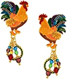 Lunch at The Ritz 2GO USA Rooster Earrings Posts - Farm