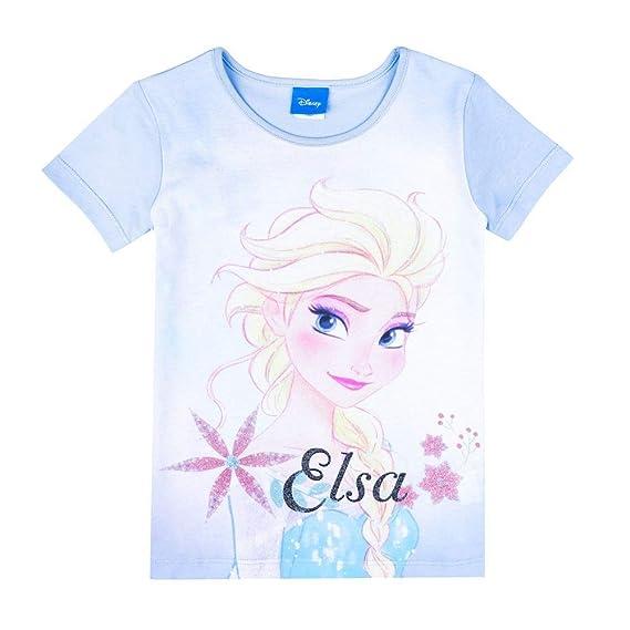 Frozen : Disney : Camiseta Azul Elsa El Reino de Hielo :