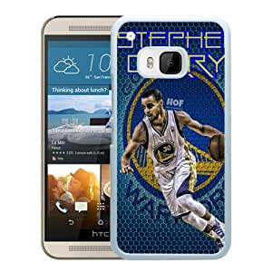 Customized Portfolio Golden State Warriors Stephen Curry 4 White Plastic HTC ONE M9 Protective Case