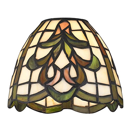 (Dome Tiffany Glass Shade - 1-5/8-inch Fitter)