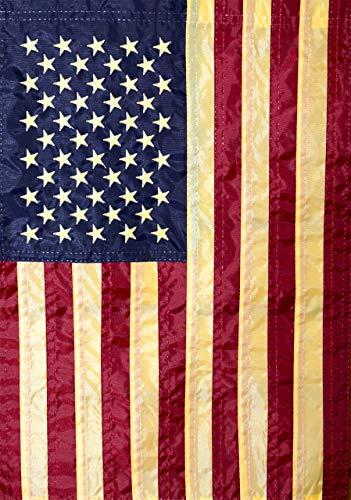 Briarwood Lane American Flag Tea Stained Applique Garden Flag 12