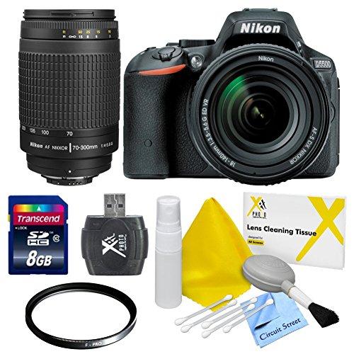 Nikon D5500 DX-format Digital SLR w/ 18-140mm VR Lens & Nikon 70-300mm f/4-5.6G AF Nikkor SLR Camera Lens & CS Basic Package: Includes High Speed 8GB SDHC Memory Card, SD Card Reader, UV Filter, Brush Blower, Cleaning Kit & CS Microfiber Cleaning Cloth