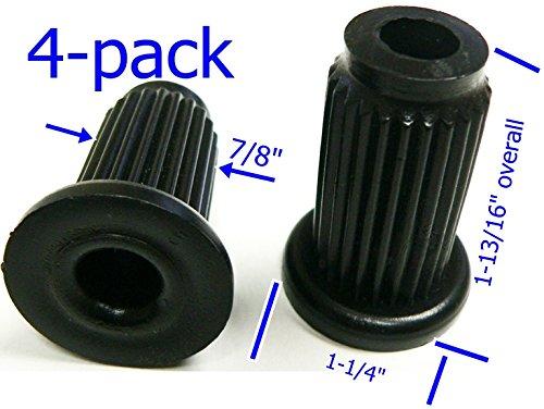 Oajen caster socket for 7/16 diameter grip ring stem, 4-pack, 1 OD 16 gauge round tube, 4-pack, heavy duty, 7/8 socket OD