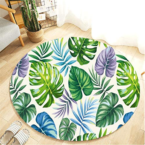 Nivalkid Botany Elements Blanket Round Bathroom Carpet Protector Self Adhesive Plastic Protection Film for Stairs Rug Home Mat, Picnic Blanket Waterproof, Children's Room Carpet from Nivalkid
