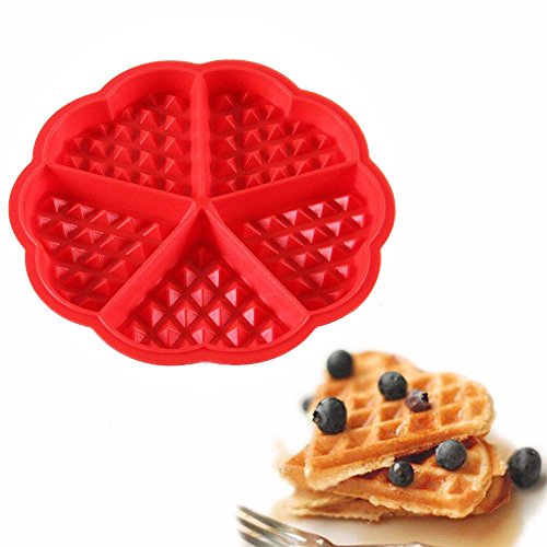 (Euone Waffles Silicone Mould Pan Cake Baking Baked Muffin Cake Chocolate Mold Tray)