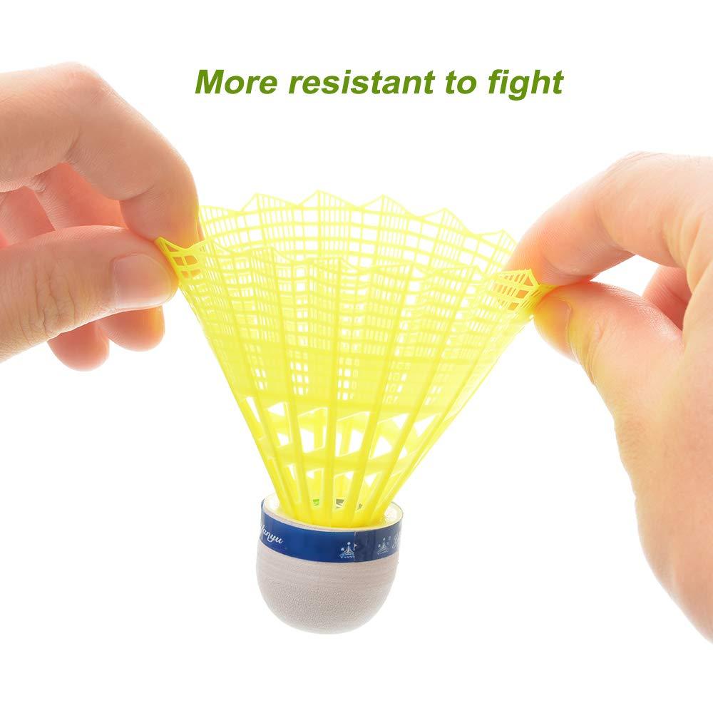 Godagoda White Badminton Plastic Nylon Ball Badminton Nylon Badminton 12 1 Tube
