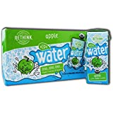Rethink Kids Water, Flavored Water, Zero Sugar, Zero Calorie, Zero Sodium, 100% Recyclable, 200 mL Carton, Pack of 32 (Kids Apple)