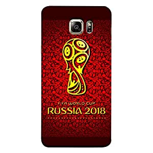 ColorKing Samsung S6 Football Red Case shell cover - Fifa Cup 05