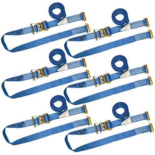 Vulcan Logistic Strap for E-Track, Ratchet Style 20' Blue (6 Pack)