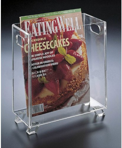 Clear Acrylic Magazine Holder or Wastebasket