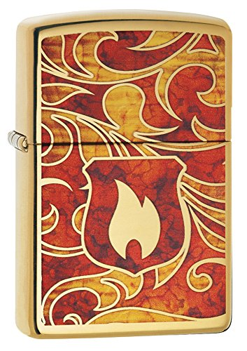 Zippo Flame Shield Fusion Pocket Lighter, High Polish Brass