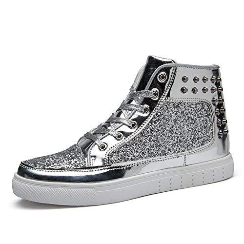 Amoureux Silvery De Les Sports Rivets Quarante Medium Kmjbs casual Chaussures Pour wq4xFXz