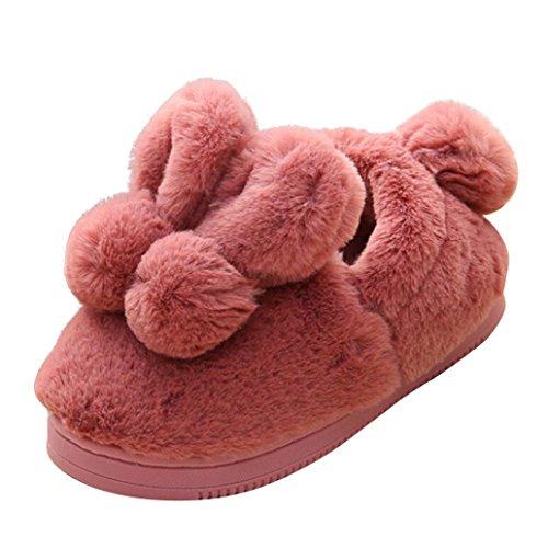 Jamicy® Plüsch Soft Sohle Anti-Rutsch Warm Samt Schnee Schuhe Cute Kleinkind Bogen Baby Wein