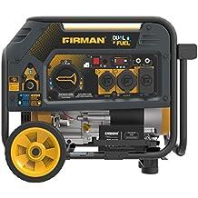 Firman Hybrid Series H03651 3650/4550 Watt Dual Fuel Generator, Yellow
