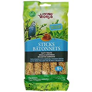 Living World Budgies Honey Treat Sticks, 5.3-Ounce 65