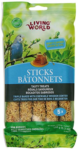 Living World Budgies Honey Treat Sticks, 5.3-Ounce