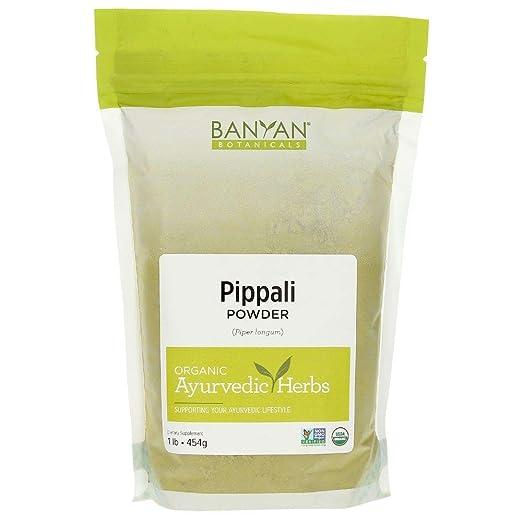 Amazon.com: Banyan Botanicals Organic Pippali Powder - Certified USDA Organic, 1 lb - Piper longum - Long Pepper - Ayurvedic Cooking Spice with Digestive ...