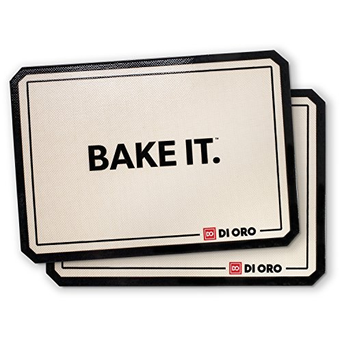 Pro Silicone Baking Mat - Nonstick Silicone Sheets - 480° Heat Resistant - 16 1/2