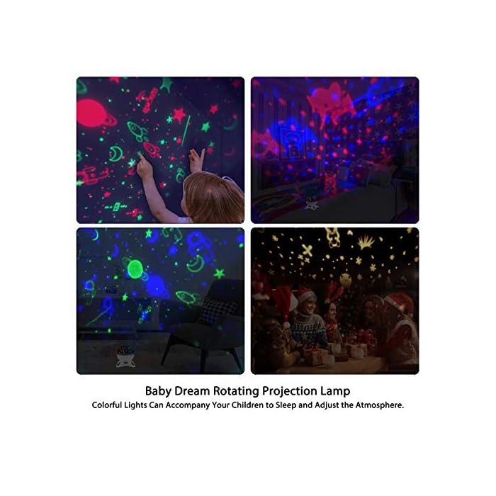 519cQSVj1gL ♩♪ Lo que ofrecemos♫ ♬: No dude en contactarnos por correo electrónico si tiene alguna inquietud o pregunta con respecto al proyector cielo estrellado. ♩♪ 2019 Modelo Nuevo♫ ♬: este proyector bebé hay: luces de colores / luz nocturna / 12 música ligera / cambio de canciones / repetir reproducción / volumen ajustable / establecer el tiempo / rotación / 2 Modo de suministrar la electricidad, que es adecuado para fiestas de cumpleaños, Navidad, Halloween, dormitorio, todos los padres y los niños pueden disfruten de cada maravillosa noche. ♩♪ Modo de Proyección + Luz de Noche♫♬: ①Ciel estrellado: astronautas, planetas, radares, cohetes, estrellas y lunas. ② Mundo animal mundial: elefantes, conejos, zorros, jirafas, cebras, leones y venados. ③ Modo de luz nocturna infantil. ④ Luces de colores: hay 8 modos de luz combinados con rojo, verde, azul y blanco cálido etc.