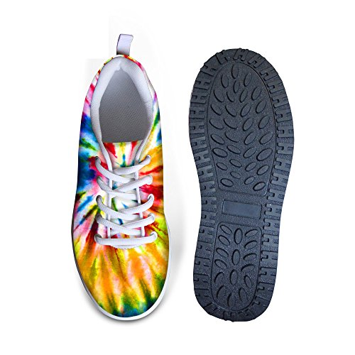 HUGS IDEA Tie Dey Design Womens Walking Shoes Wedges Platform Sneakers Colorful 4 sKhfXf4K9K
