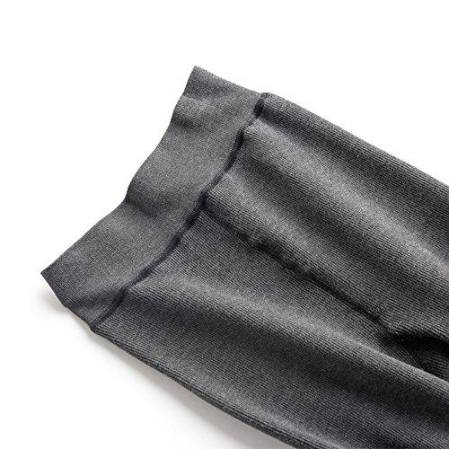 GBHNJ Leggings L'Automne Et L'Hiver Plus Épais Étape Sur Le Pied De La Femme Thermique Mince Transparent De Peut Se Porter À L'Extérieur Gray F(Poids Approprié 80-130 Catty)