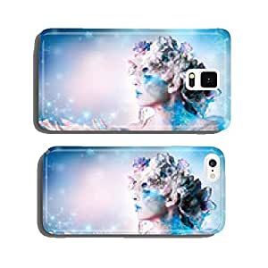 Winter portrait of woman blowing snowflakes cell phone cover case Samsung S6