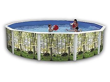 TOI - Piscina BOSQUE CIRCULAR 640x120 cm Filtro 6 m³/h.: Amazon.es: Juguetes y juegos